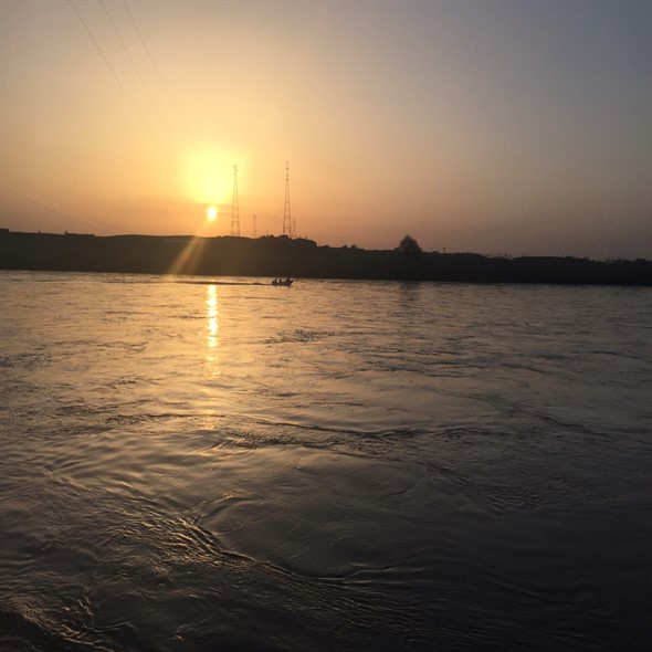 Sunset on the banks of the Tigris River