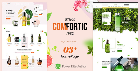 Comfortic – Clean Responsive Beauty & Cosmetic Shopify Theme