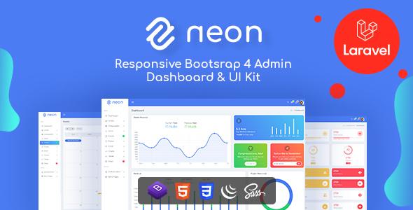 Neon - Bootstrap + Laravel Admin Dashboard Template
