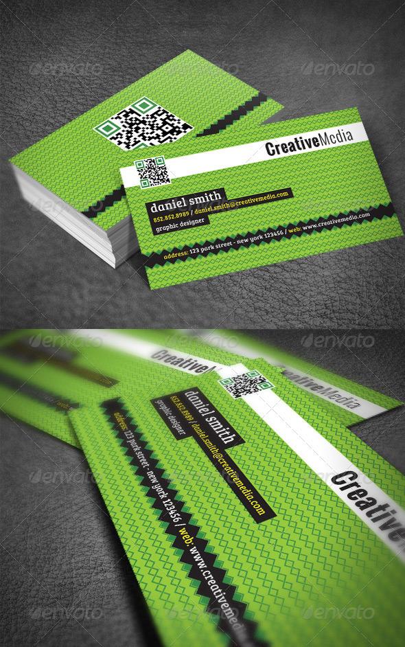 Green Modern Business Card - Creative Business Cards