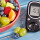 Fresh fruit salad and glucose meter, diabetes, healthy lifestyle and nutrition concept - PhotoDune Item for Sale