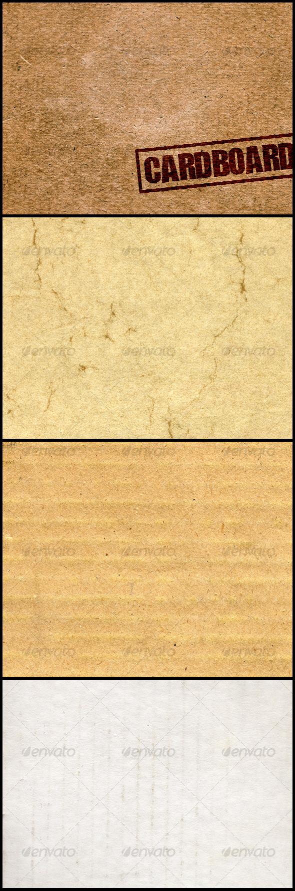 4 Cardboard Textures - Miscellaneous Textures