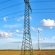 An electricity pylon with wind energy generators - PhotoDune Item for Sale