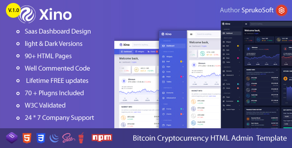 Xino –  BTC Dashboard HTML Template