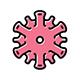 Coronavirus Disease icon set vector