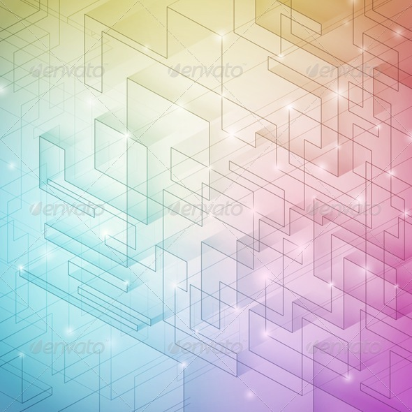 Colorful Geometric Background - Abstract Conceptual