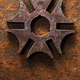 Rusty steel six-pointed star or cross - PhotoDune Item for Sale