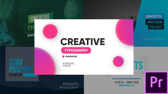 Creative Typography – Premiere Pro