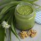 Homemade ramsoms pesto with flowers and walnuts - PhotoDune Item for Sale