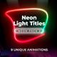 Neon Light Titles 2