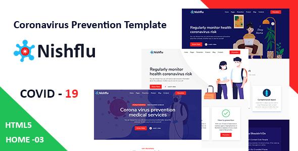 Special Nishflu - Coronavirus Medical Prevention HTML Template