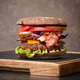 Burger on serving board - PhotoDune Item for Sale