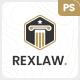 Rexlaw - Law Attorney PSD Template