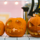 Halloween Pumpkins on a light background - PhotoDune Item for Sale
