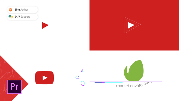 Clean Youtube Logo | Premiere Pro Template