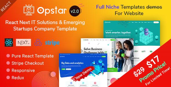 Opstar   React Next Multi-Niche IT Startups by EnvyTheme