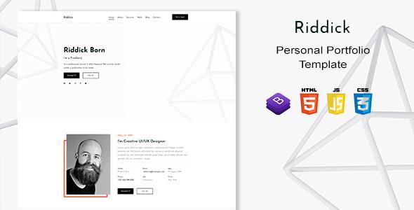 Exceptional Riddick - Personal Portfolio Template