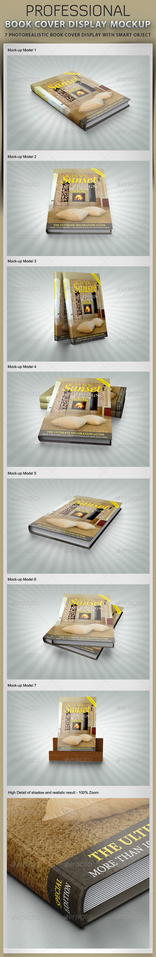 Book Cover Display Mockup - Books Print