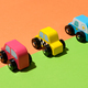 Three colorful rustic wooden handcrafted toy cars - PhotoDune Item for Sale