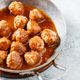 Meatballs with tomato sauce in a pan - PhotoDune Item for Sale