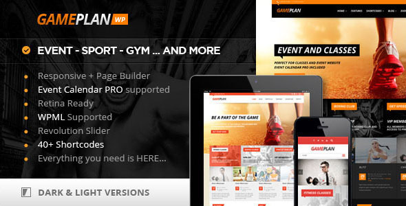 Download Gameplan – Event and Gym Fitness WordPress Theme…