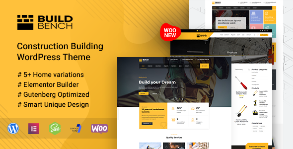 Construction Building WordPress Theme - Buildbench