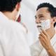 Shaving mixed-race man - PhotoDune Item for Sale