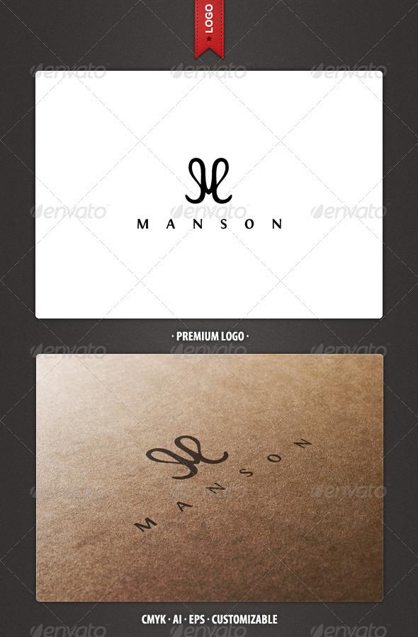 Manson - Letter M Logo Template - Letters Logo Templates