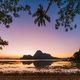 El Nido bay. Palawan, Philippines. Silhouette of palm trees in sunset light. Exotic tropical island - PhotoDune Item for Sale