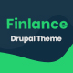 Finlance - Financial Planning Drupal 8.8 Theme with Paragraph Builder