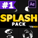 Cartoon Liquid Splashes | After Effects - VideoHive Item for Sale