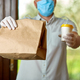 Delivery service under quarantine, disease outbreak, coronavirus - PhotoDune Item for Sale