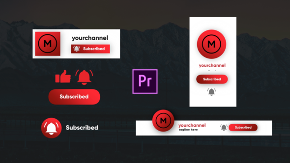 Youtube Subscribe Elements- Premiere Pro