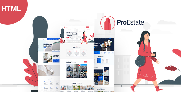 Incredible ProEstate - Responsive Real Estate HTML Template