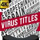 Coronavirus Covid 19 News Headline Background - VideoHive Item for Sale