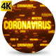 Corona Virus World Impact Texts Orange - VideoHive Item for Sale