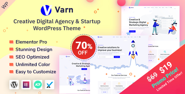 Varn - Digital Agency & Startup WordPress Theme