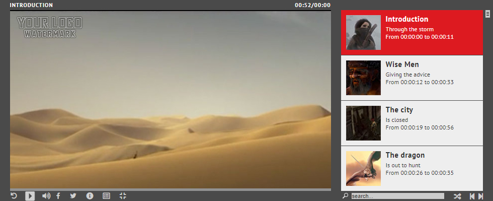 RANGES - Video Player With Multiple Start and End Points - WordPress Plugin by LambertGroup