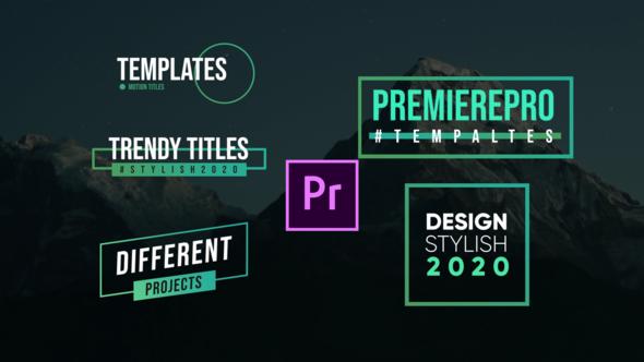 Modern Titles- Premiere Pro