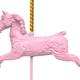 Isolated Pink Carousel Horse - PhotoDune Item for Sale