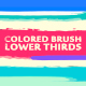 Colored Brush Lower Thirds - VideoHive Item for Sale
