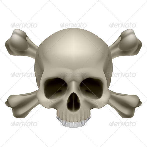 Human skull and crossbones - Miscellaneous Characters