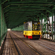 City tram on bridge at day in Warsaw, Poland - PhotoDune Item for Sale