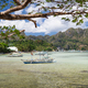 El Nido bay in low tide. Bangka fishing in the shallow water in low tide. Palawan, Philippines - PhotoDune Item for Sale
