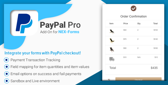 Download PayPal Pro for NEX-Forms Free Nulled