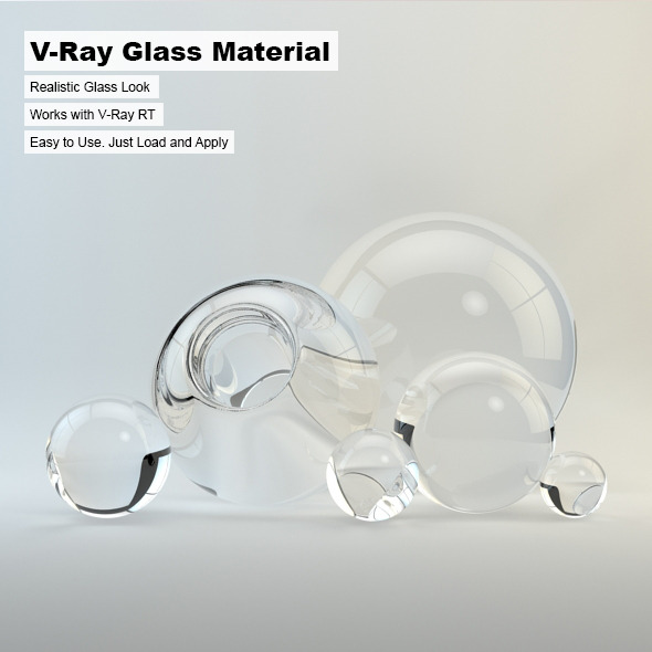 V-Ray Glass Material - 3DOcean Item for Sale