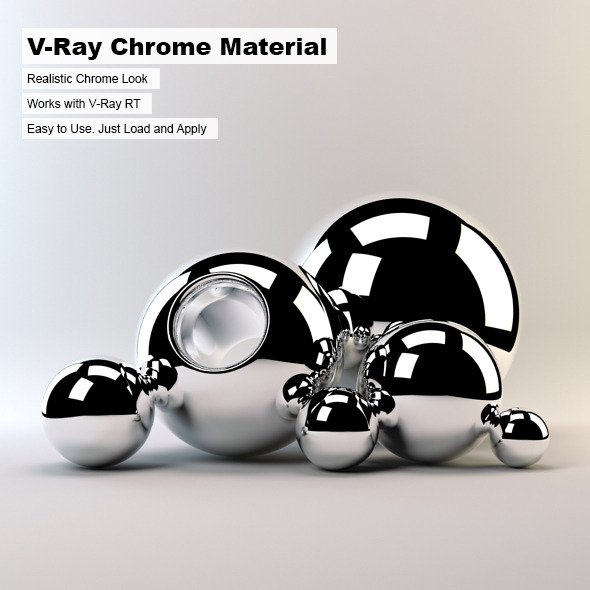 V-Ray Chrome Material - 3DOcean Item for Sale