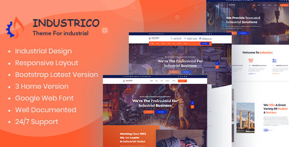 Special Industrico - Industrial And Engineering HTML Template