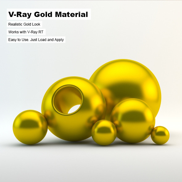 V-Ray Gold Material 1 - 3DOcean Item for Sale