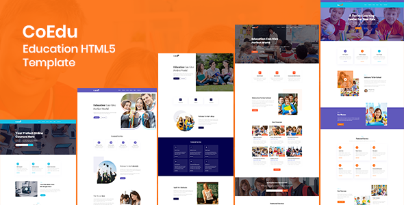 Lovely CoEdu - 5 types of Education HTML5 Template (Online class and course included)